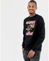 Sweat-shirt de noël noir Threadbare