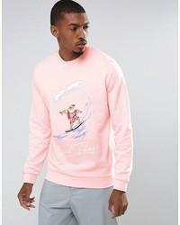 Sweat-shirt de noël rose Asos