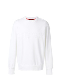 Sweat-shirt déchiré blanc Diesel
