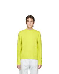 Sweat-shirt en polaire jaune Acne Studios