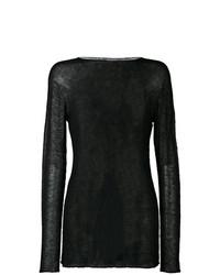 Sweat-shirt en tricot noir Rick Owens