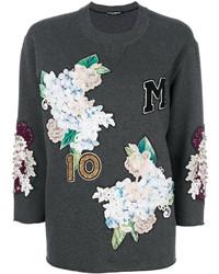 Sweat-shirt gris foncé Dolce & Gabbana