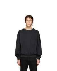 Sweat-shirt gris foncé Lemaire