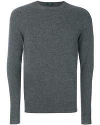 Sweat-shirt gris foncé Zanone