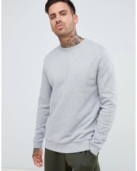 Sweat-shirt gris ASOS DESIGN