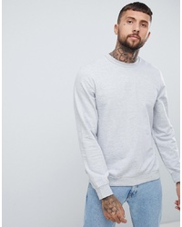 Sweat-shirt gris Bershka