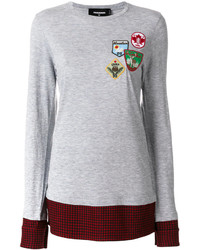 Sweat-shirt gris Dsquared2