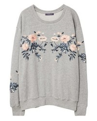 Sweat-shirt gris Mango