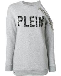 Sweat-shirt gris Philipp Plein