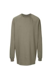 Sweat-shirt gris Rick Owens