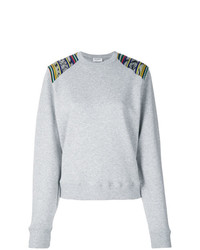 Sweat-shirt gris Saint Laurent