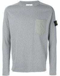 Sweat-shirt gris Stone Island