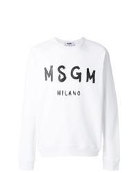 Sweat-shirt imprimé blanc et noir