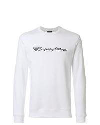 Sweat-shirt imprimé blanc et noir Emporio Armani