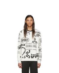 Sweat-shirt imprimé blanc et noir Givenchy