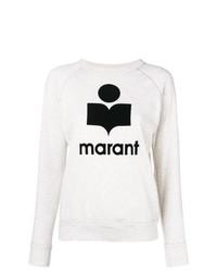 Sweat-shirt imprimé blanc et noir Isabel Marant Etoile