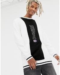 Sweat-shirt imprimé blanc et noir K-Swiss