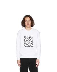 Sweat-shirt imprimé blanc et noir Loewe