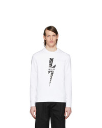 Sweat-shirt imprimé blanc et noir Neil Barrett