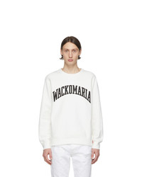 Sweat-shirt imprimé blanc et noir Wacko Maria