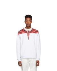 Sweat-shirt imprimé blanc et rouge