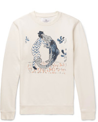 Sweat-shirt imprimé blanc