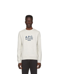 Sweat-shirt imprimé blanc A.P.C.