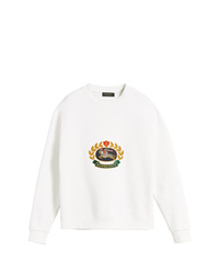 Sweat-shirt imprimé blanc Burberry