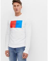 Sweat-shirt imprimé blanc Calvin Klein