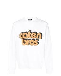 Sweat-shirt imprimé blanc DSQUARED2