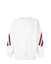 Sweat-shirt imprimé blanc Facetasm