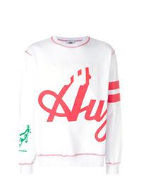 Sweat-shirt imprimé blanc Gcds