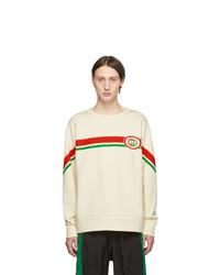 Sweat-shirt imprimé blanc Gucci