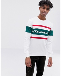Sweat-shirt imprimé blanc Jack & Jones