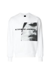Sweat-shirt imprimé blanc Juun.J