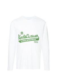 Sweat-shirt imprimé blanc Kent & Curwen