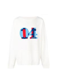 Sweat-shirt imprimé blanc Maison Margiela
