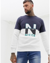 Sweat-shirt imprimé blanc Nicce London