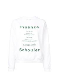 Sweat-shirt imprimé blanc Proenza Schouler