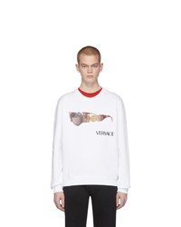 Sweat-shirt imprimé blanc Versace