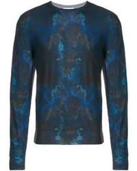 Sweat-shirt imprimé bleu canard Etro