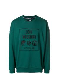Sweat-shirt imprimé bleu canard Love Moschino