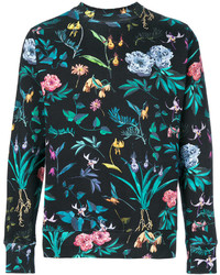 Sweat-shirt imprimé bleu canard Paul Smith