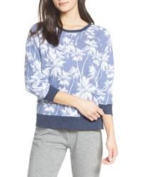 Sweat-shirt imprimé bleu clair