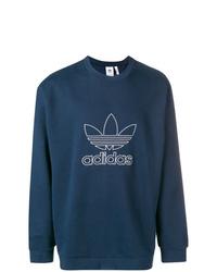 Sweat-shirt imprimé bleu marine adidas