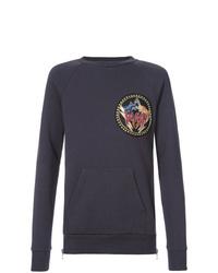 Sweat-shirt imprimé bleu marine Balmain