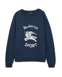 Sweat-shirt imprimé bleu marine Burberry