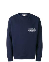 Sweat-shirt imprimé bleu marine Golden Goose Deluxe Brand