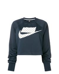 Sweat-shirt imprimé bleu marine Nike