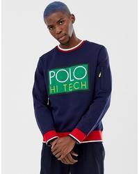 Sweat-shirt imprimé bleu marine Polo Ralph Lauren